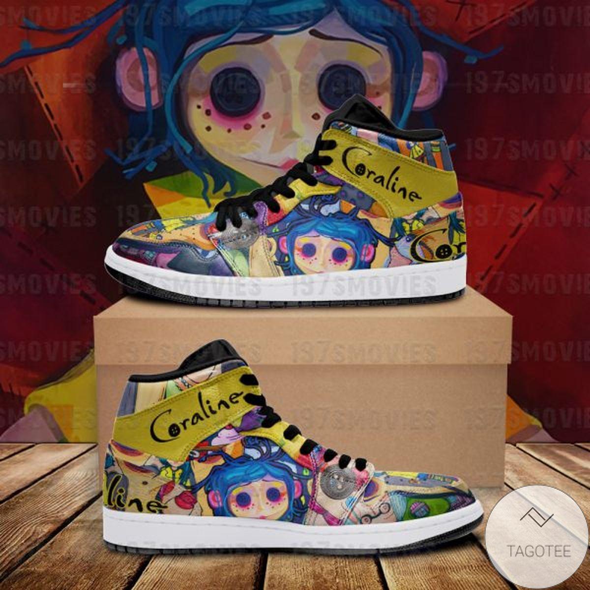 Great artwork! Coraline Sneaker Air Jordan High Top Shoes