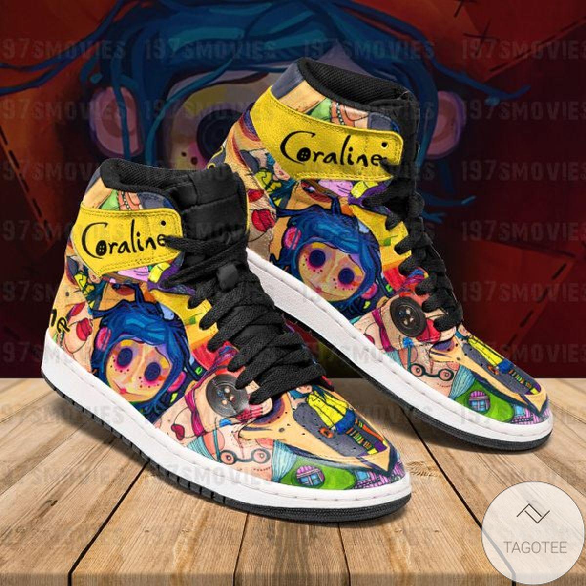 Free Ship Coraline Sneaker Air Jordan High Top Shoes