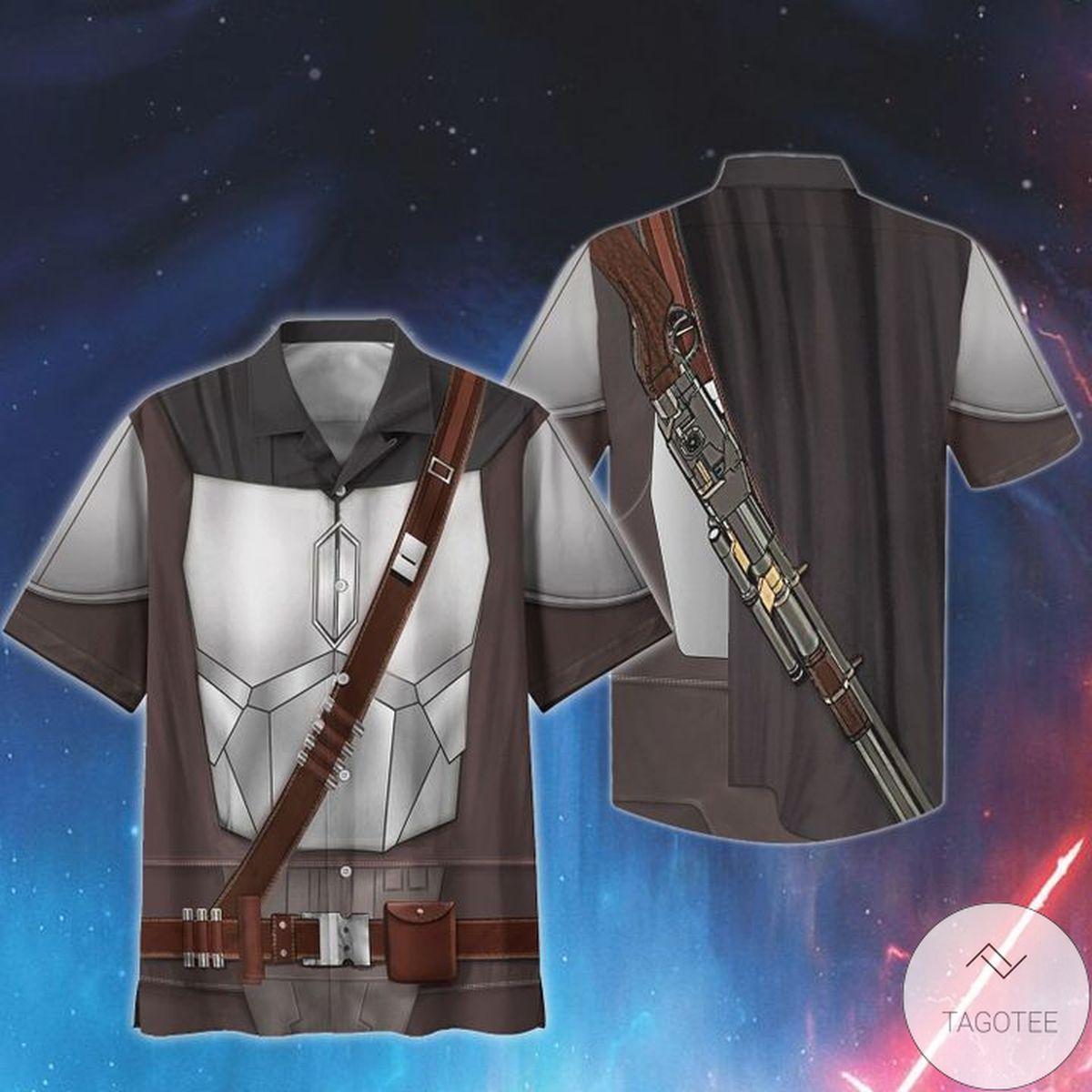 Cosplay Star Wars Beskar Print Unisex Hawaiian Shirt