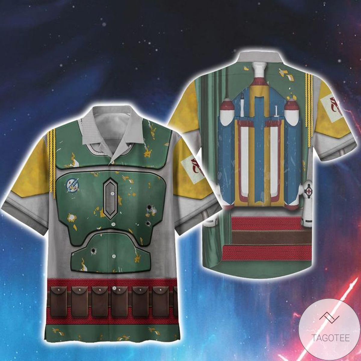 Adult Cosplay Star Wars Boba Fett Print Unisex Hawaiian Shirt