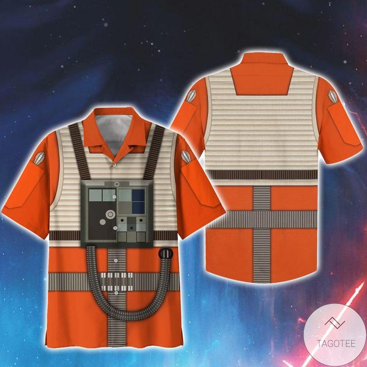 Unique Cosplay Star Wars Rebel Pilot Print Unisex Hawaiian Shirt