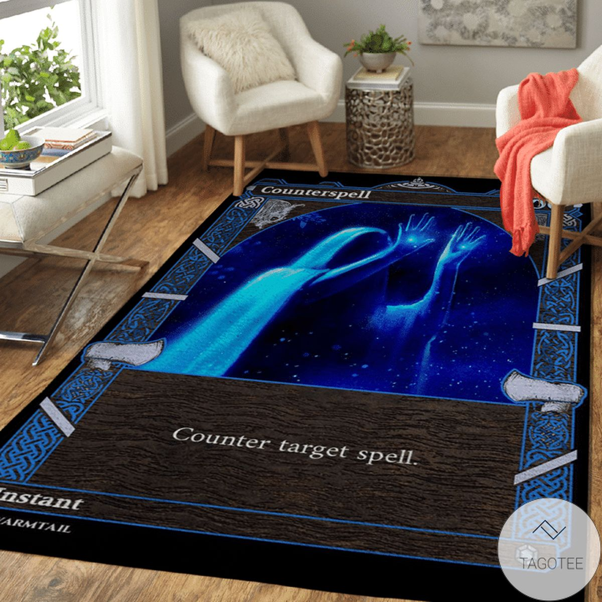 Counter Target Spell Nordic Frame Area Rug