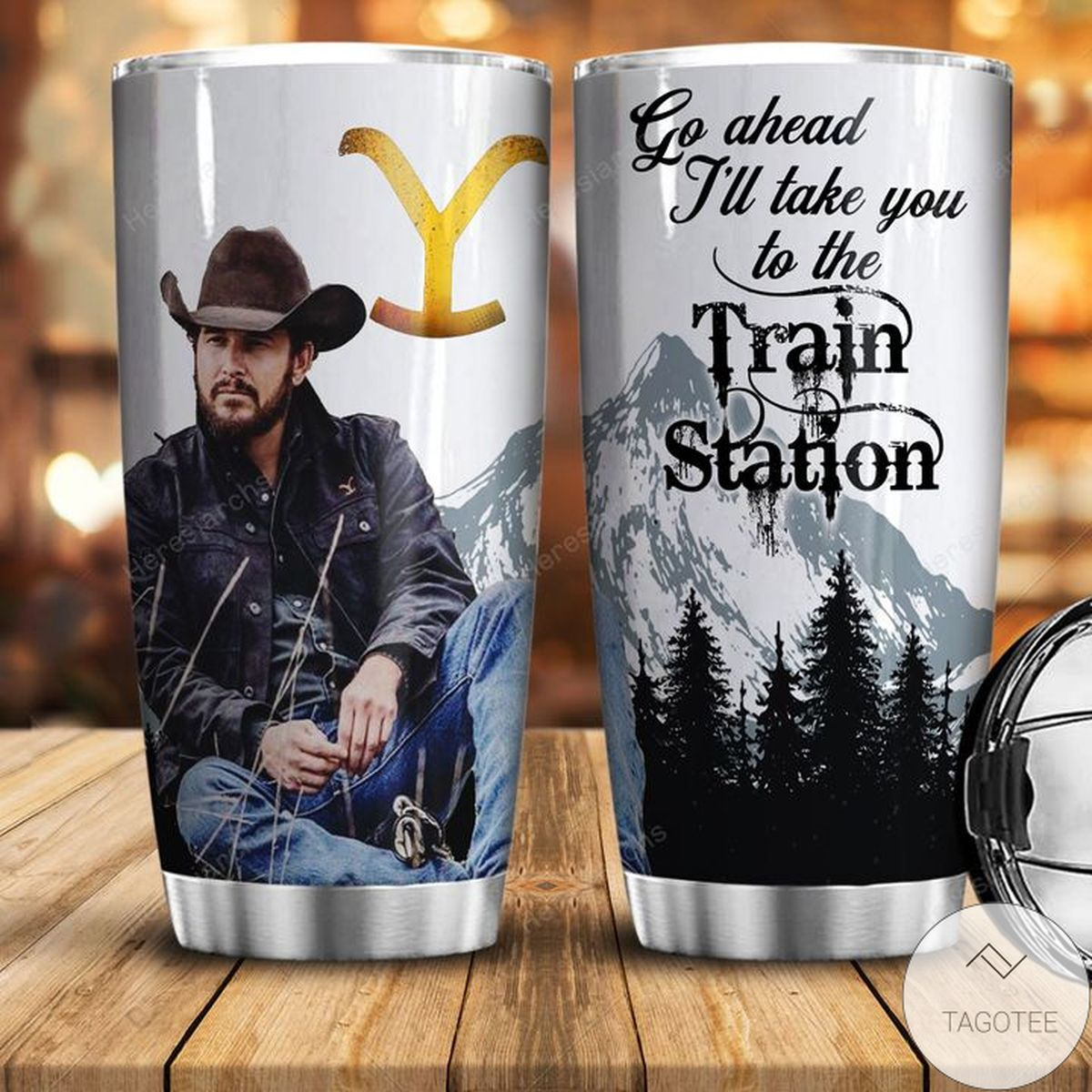 Unique Cowboy Film Go Ahead Till I Take You To The Train Station Tumbler