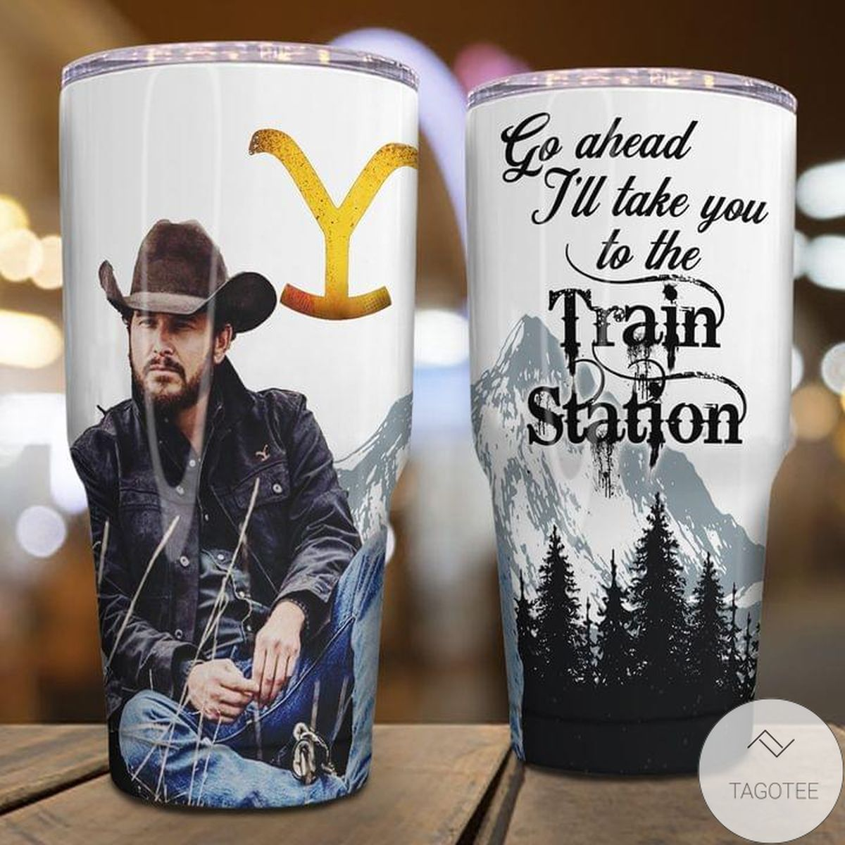 Cowboy Go Ahead Till I Take You To The Train Station Tumbler