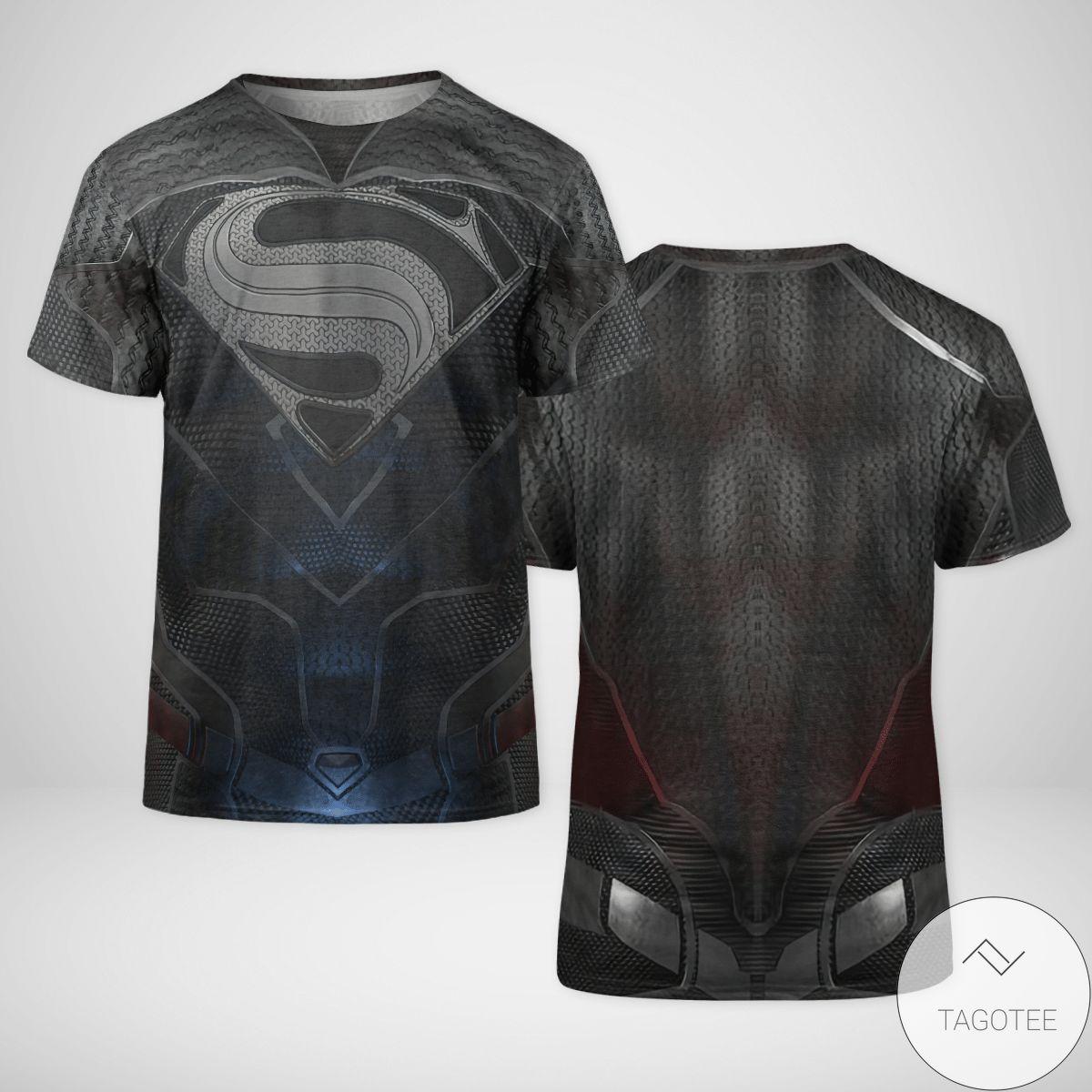 DC Black Superman Cosplay 3D T-Shirt