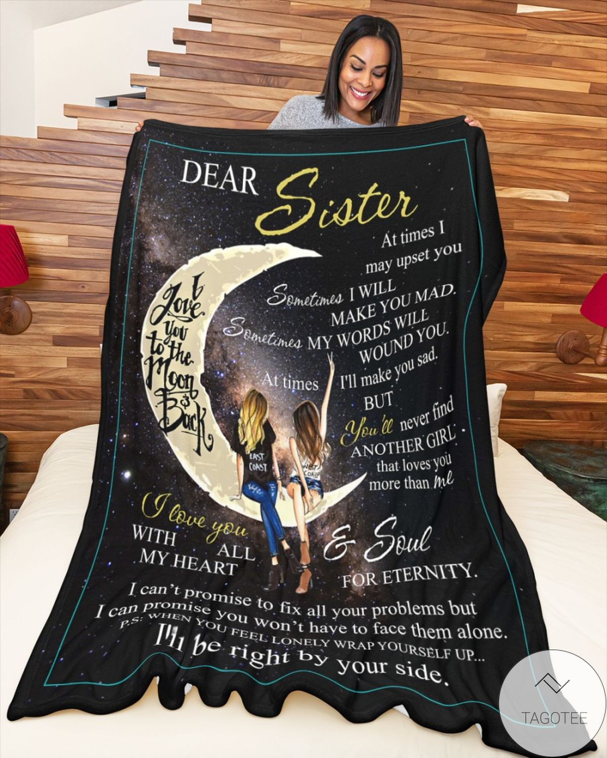Dear Sister I'll Be Right By Your Side Blanketz