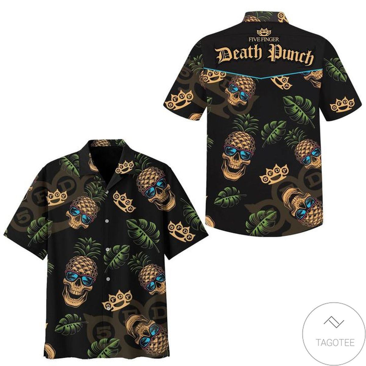 Death Punch Skull Pineapple Hawaiian Shirt