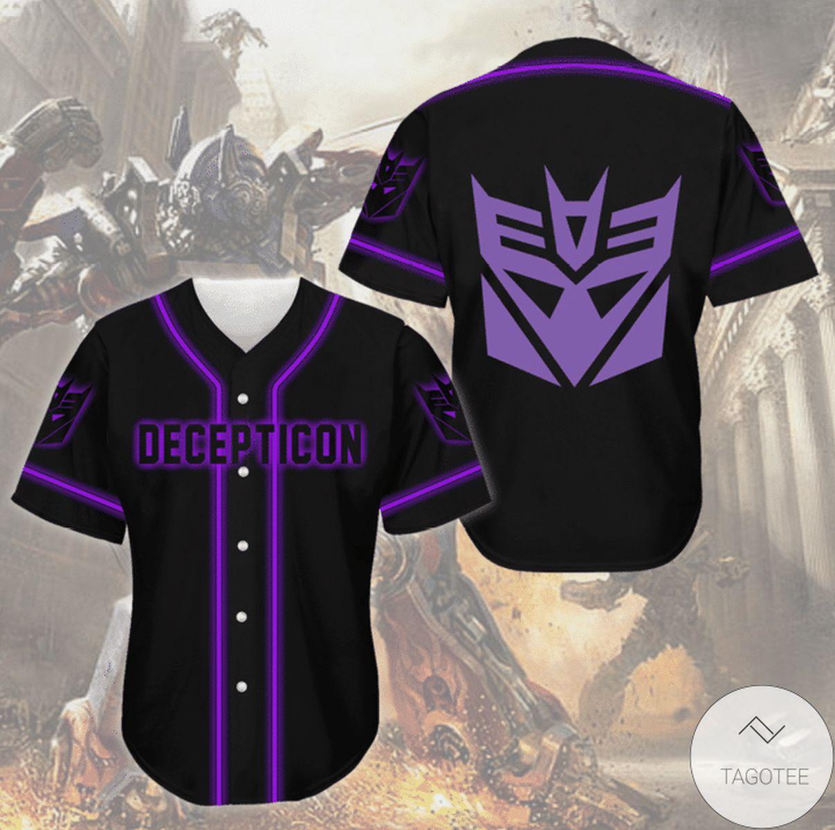 Decepticon Transformer Jersey Baseball Shirt