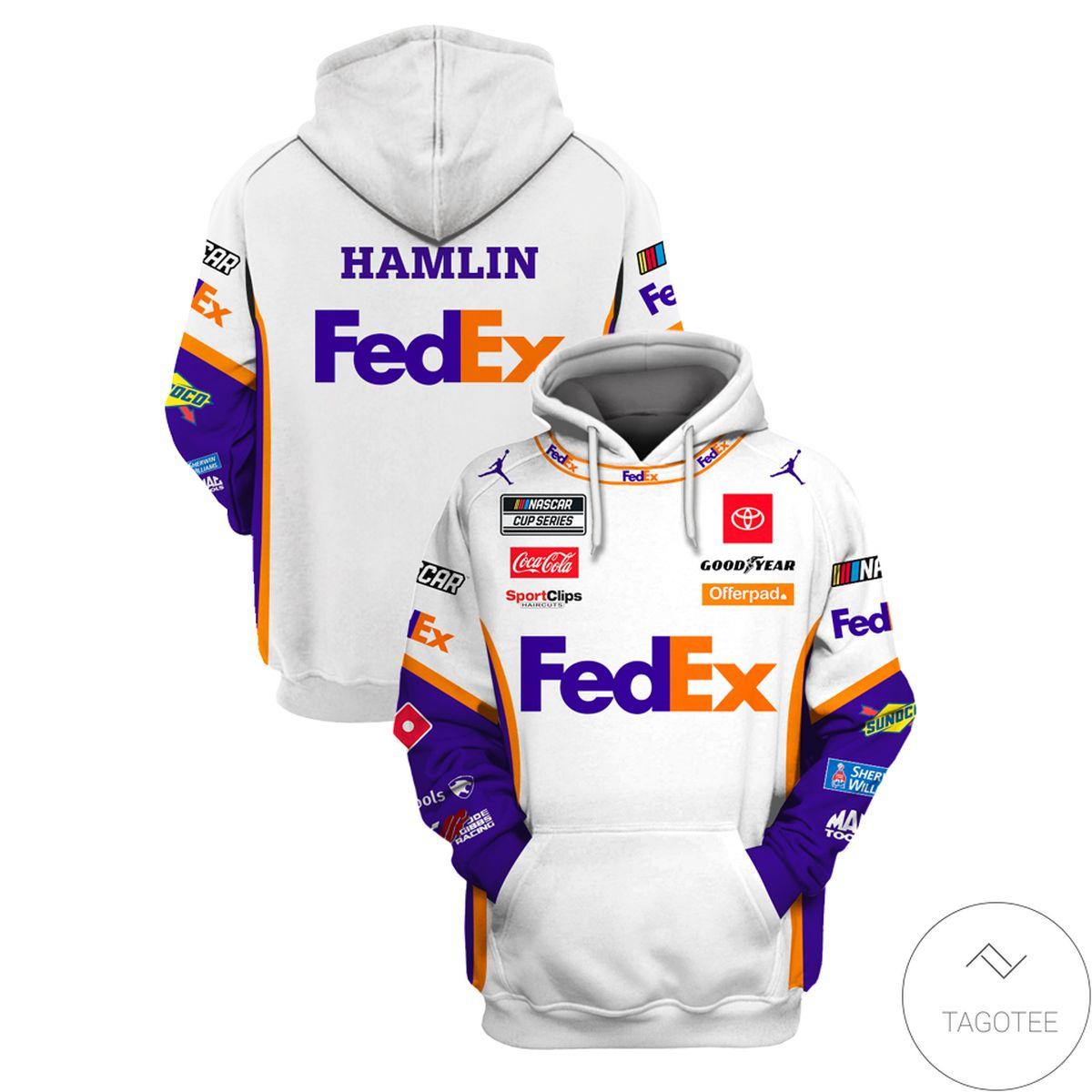 Limited Edition Denny Hamlin FedEx Hoodie