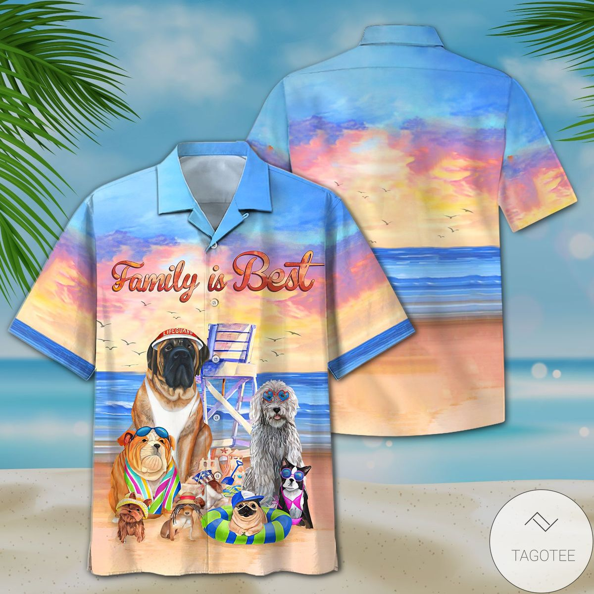 Dogs In The Beach Family Is Best Hawaiian Shirt