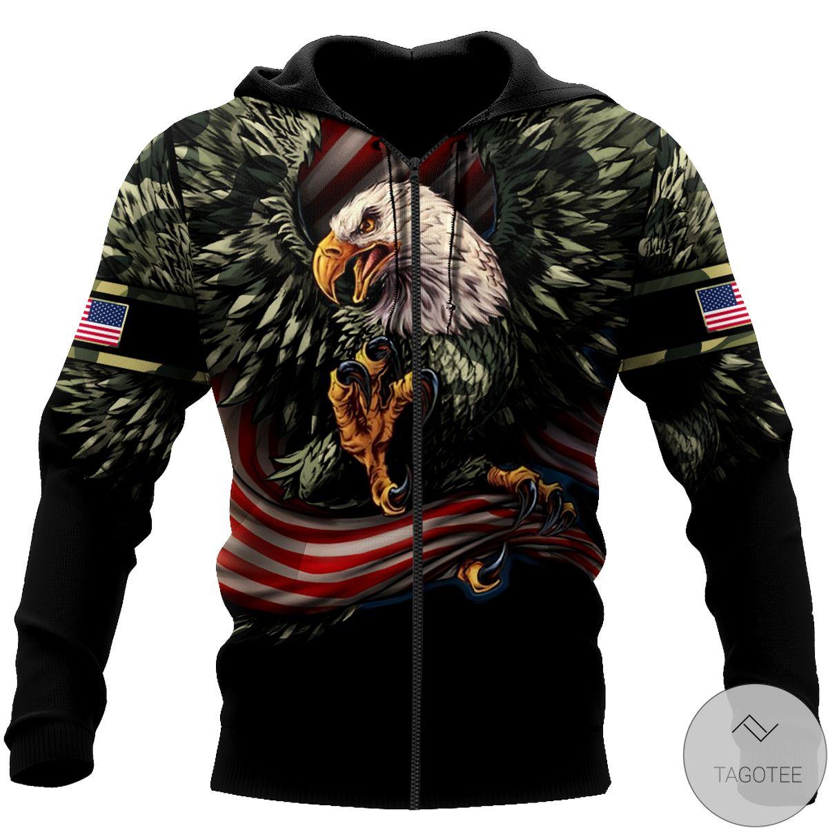 Review Eagle Us Grumpy Veteran 3D All Over Print Hoodie