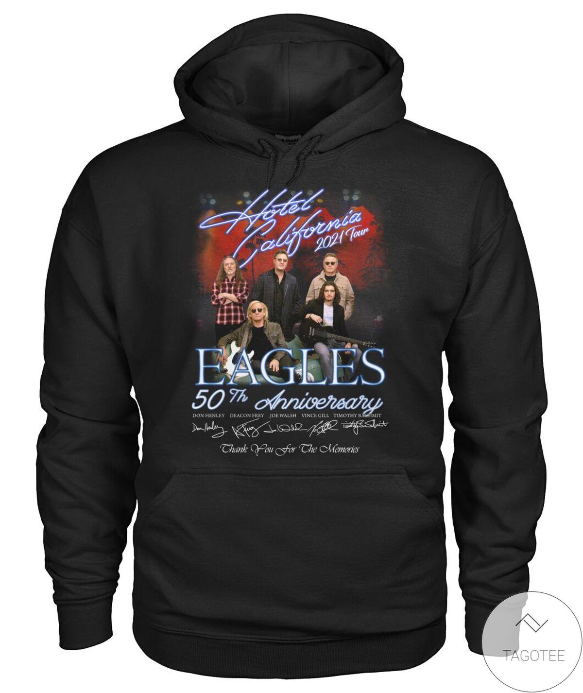 Review Eagles 50th Anniversary Hotel California 2021 Tour Shirt, hoodie, tank top