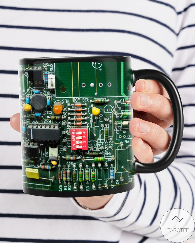 Great artwork! Electrician Board Mugs