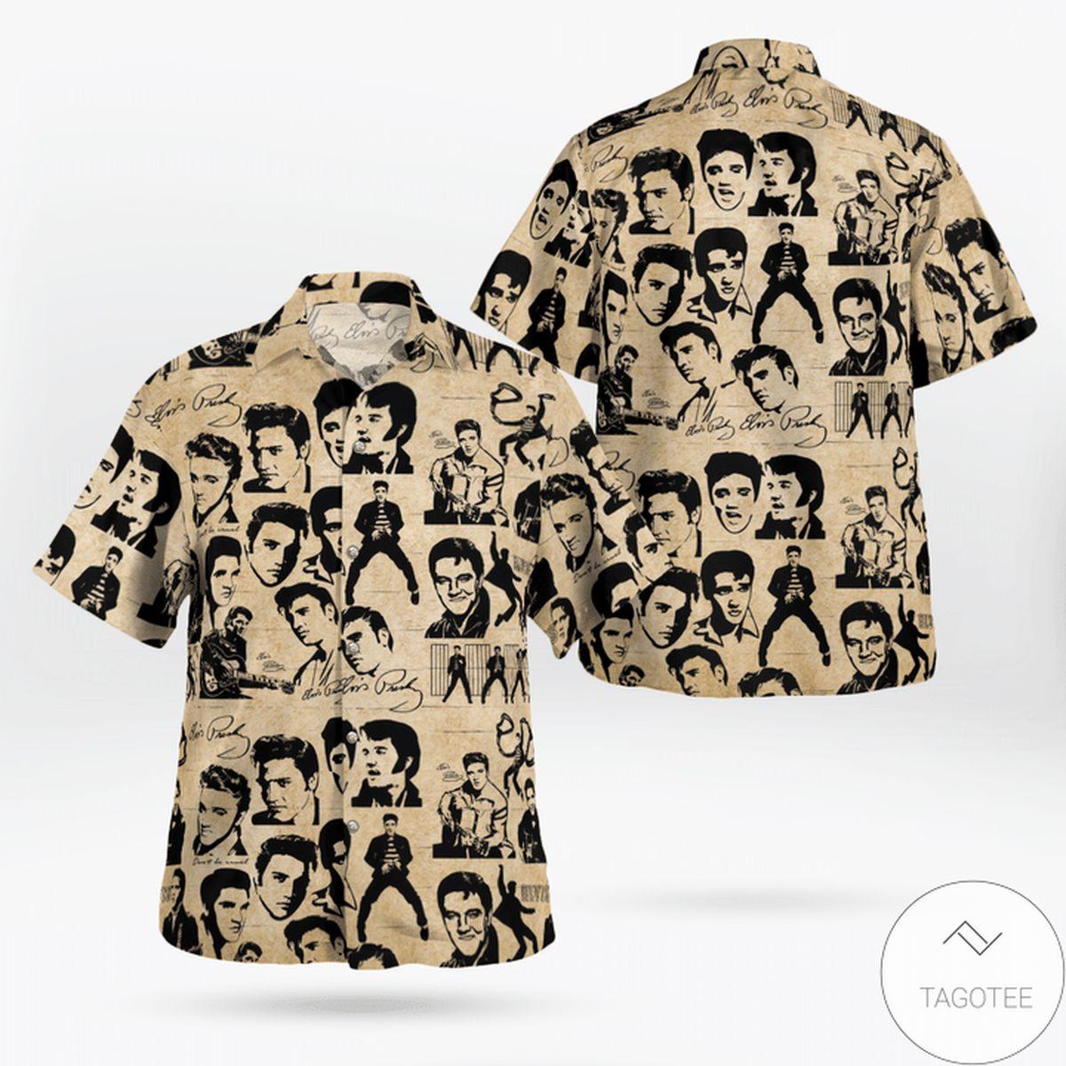 Beautiful Elvis Presley Vintage Retro Hawaiian Shirt