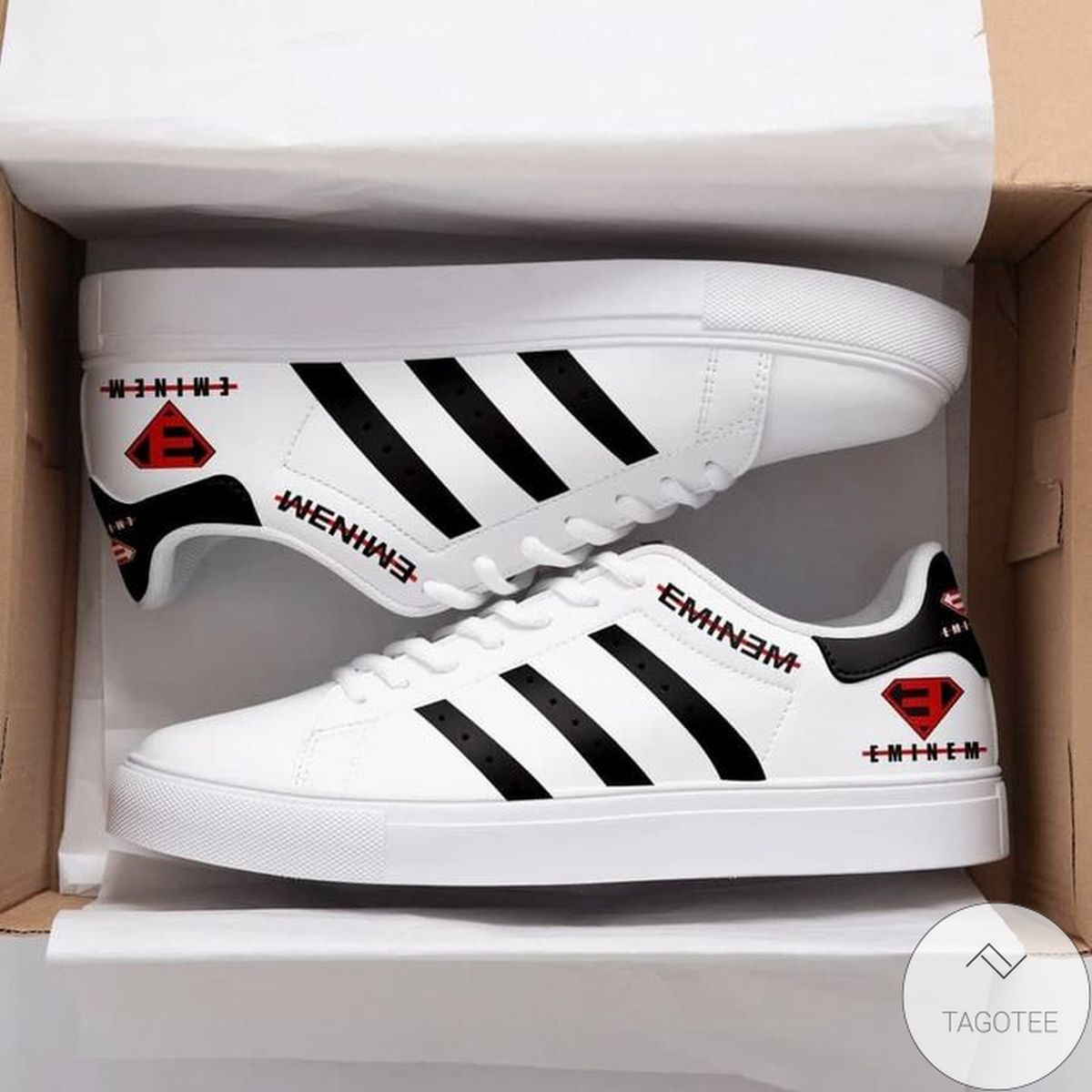 Very Good Quality Eminem White Stan Smith Shoes