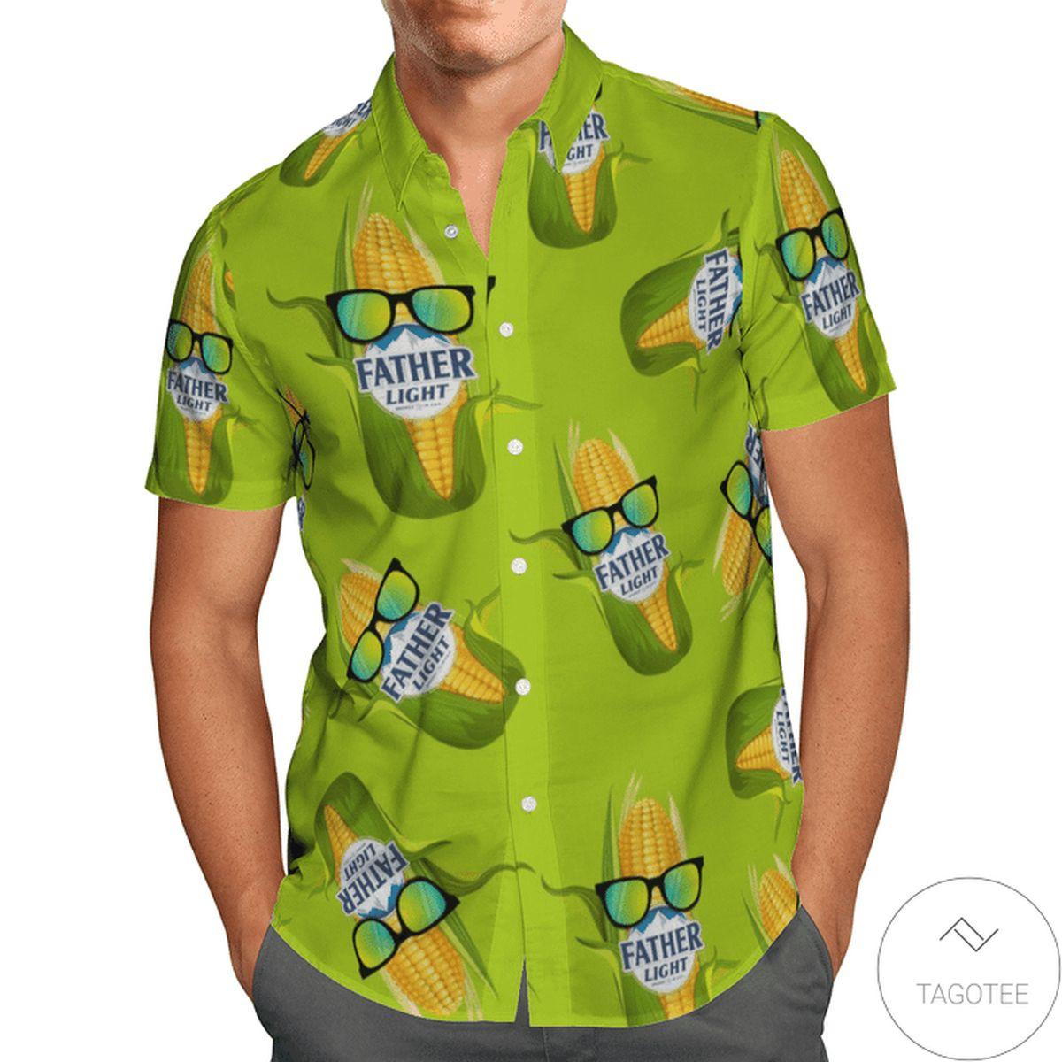 Mother's Day Gift Father Light Corn Hawaiian Shirt