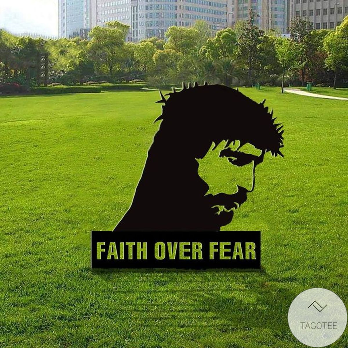 Us Store Fear Over Fear Jesus Christian Faith Jesus Yard Sign