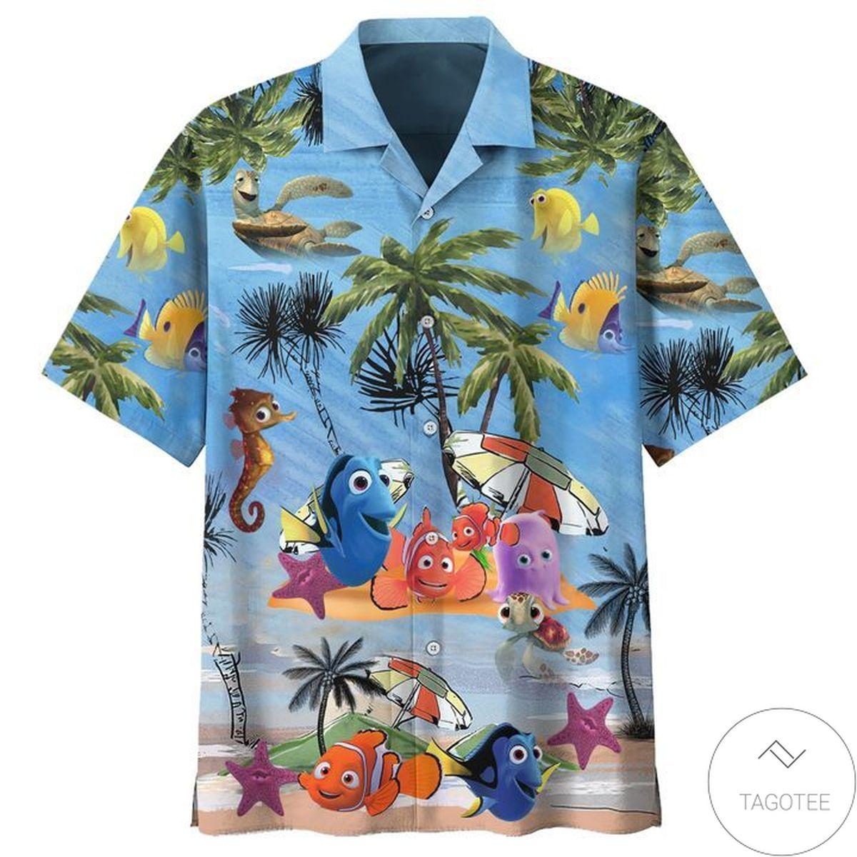 Finding Nemo Summer Vacation Cartoon Hawaiian Shirt