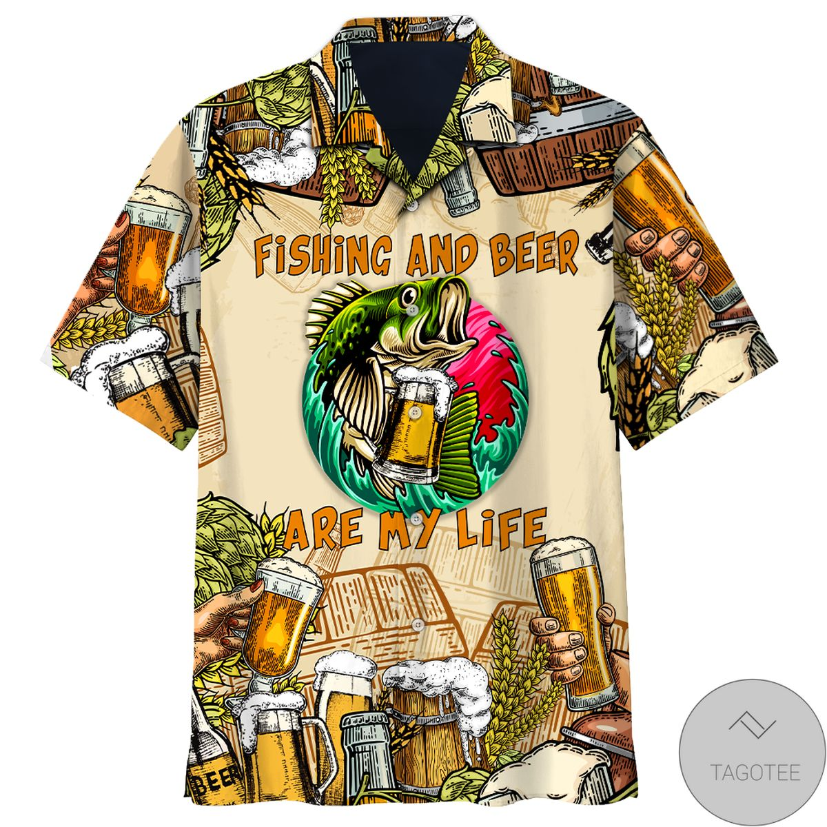 Fishing And Beer Are My Life Hawaiian Shirt
