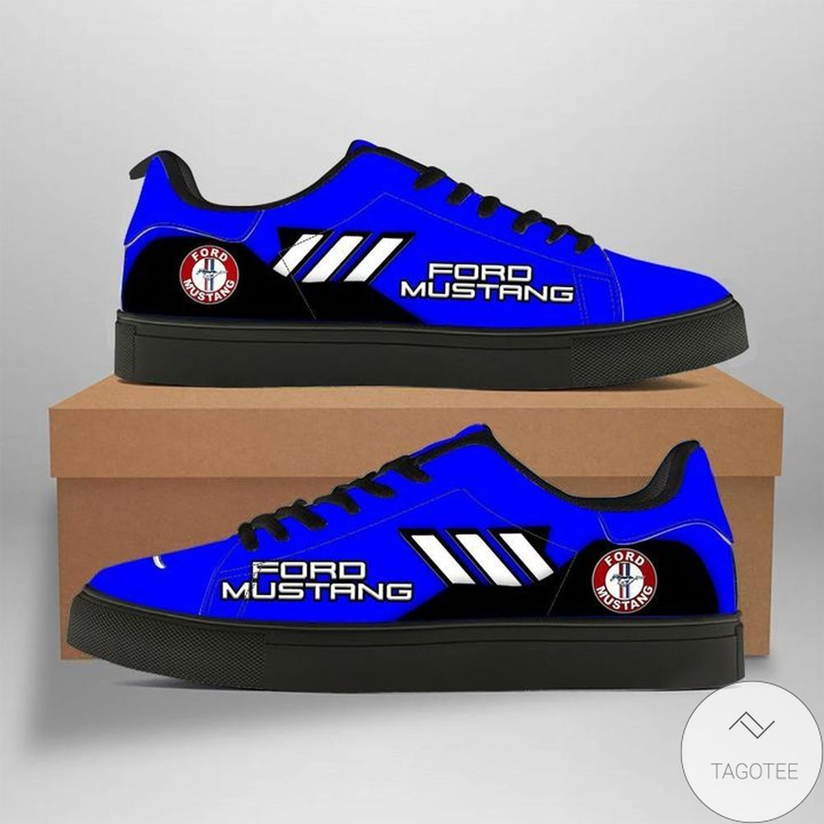 Ford Mustang Blue Stan Smith Shoes