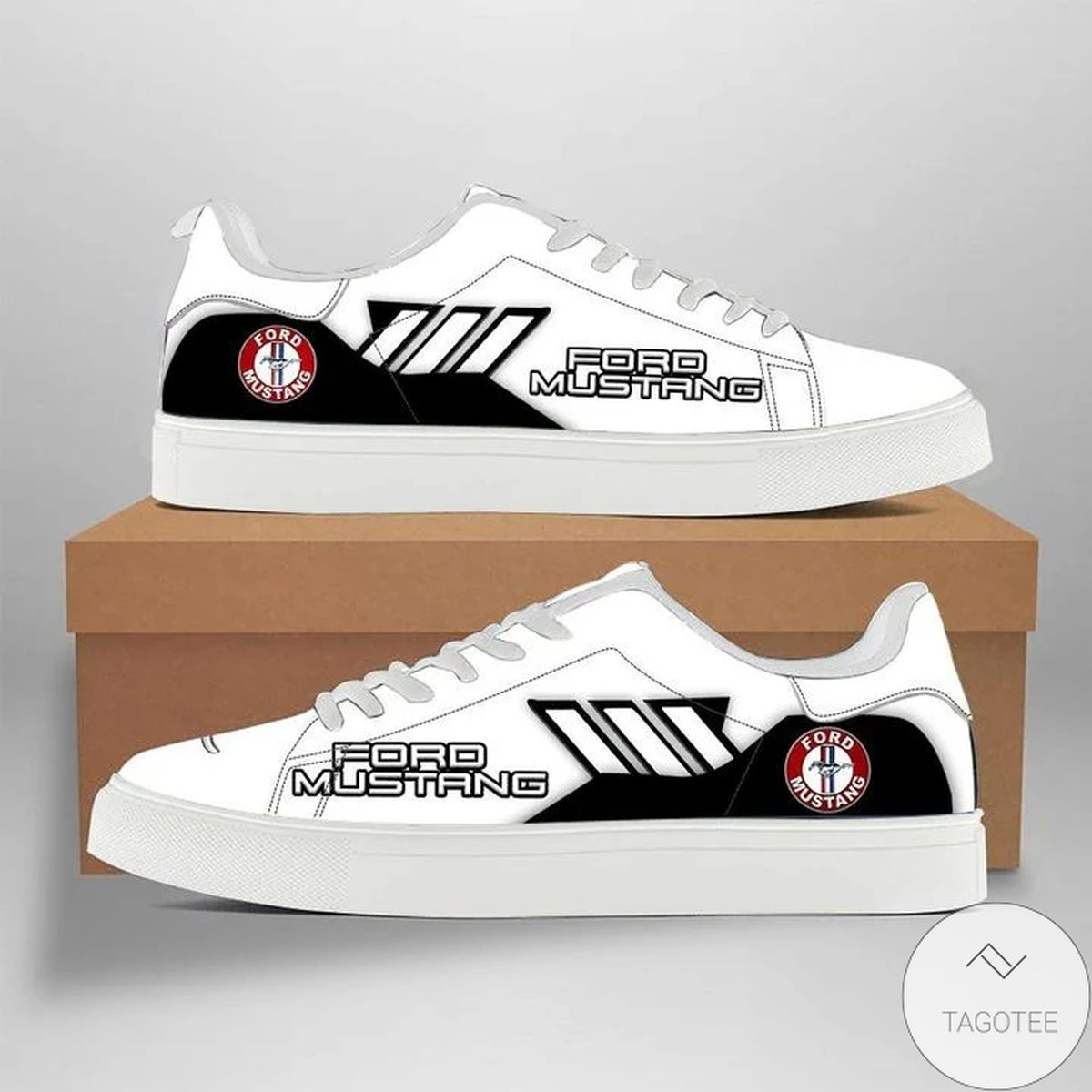 Drop Shipping Ford Mustang White Stan Smith Shoes