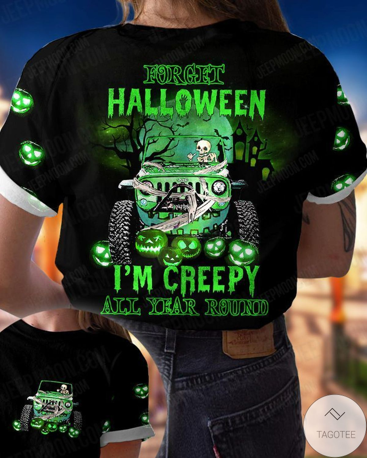 Us Store Forget Halloween I'm Creepy All Year Around Jeep T-Shirt