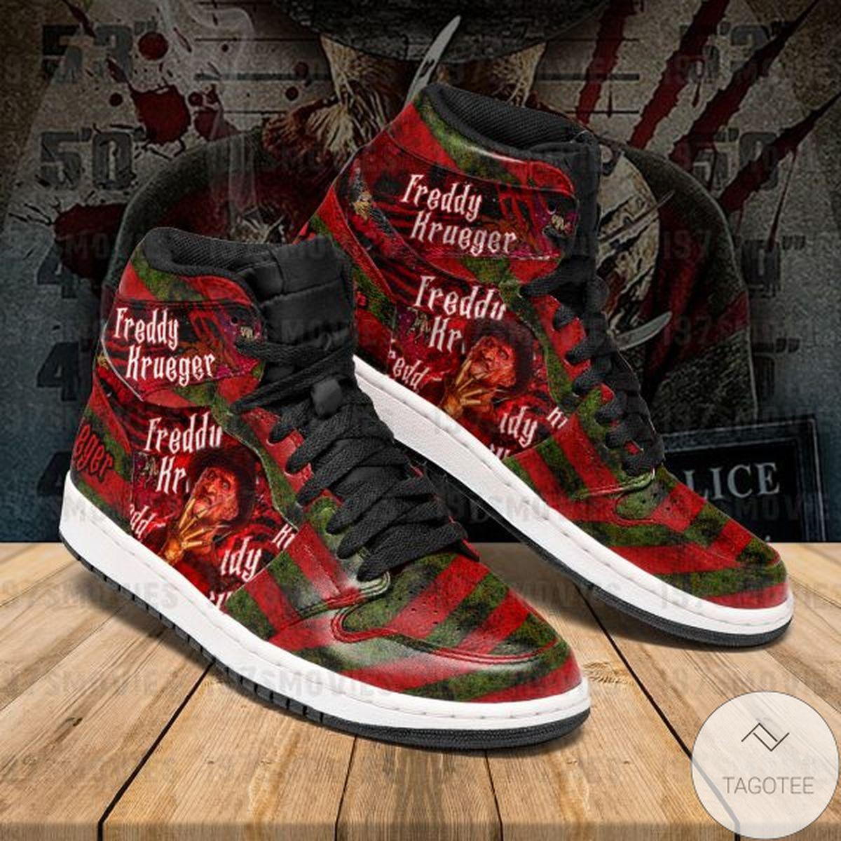 Freddy Krueger A Nightmare on Elm Street Sneaker Air Jordan High Top Shoes