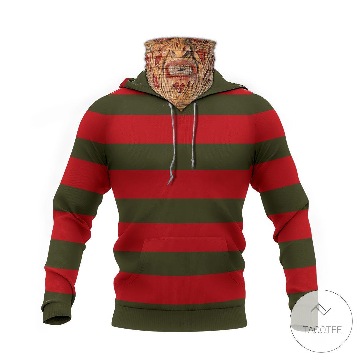 Luxury Freddy Krueger Horror Movie Halloween Mask Hoodie