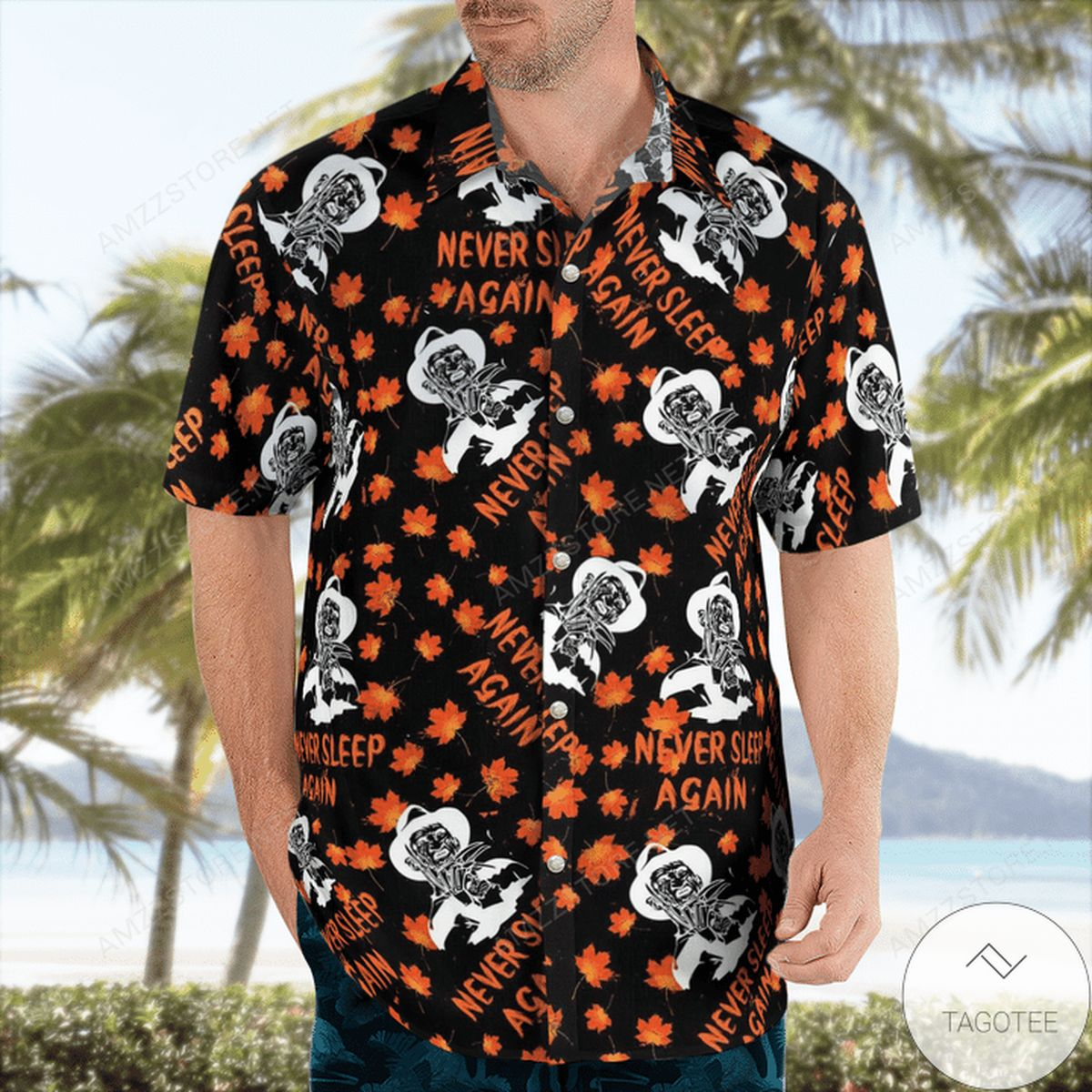 Fast Shipping Freddy Krueger Never Sleep Again Hawaiian Shirt