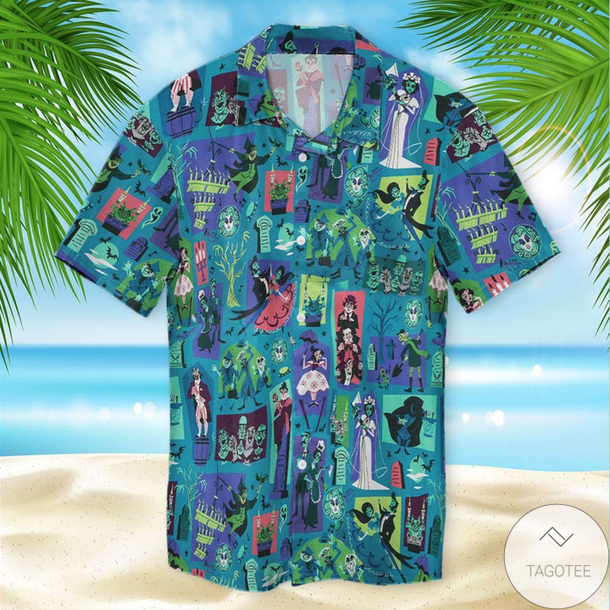 Present Ghost Bride Halloween Hawaiian Shirt