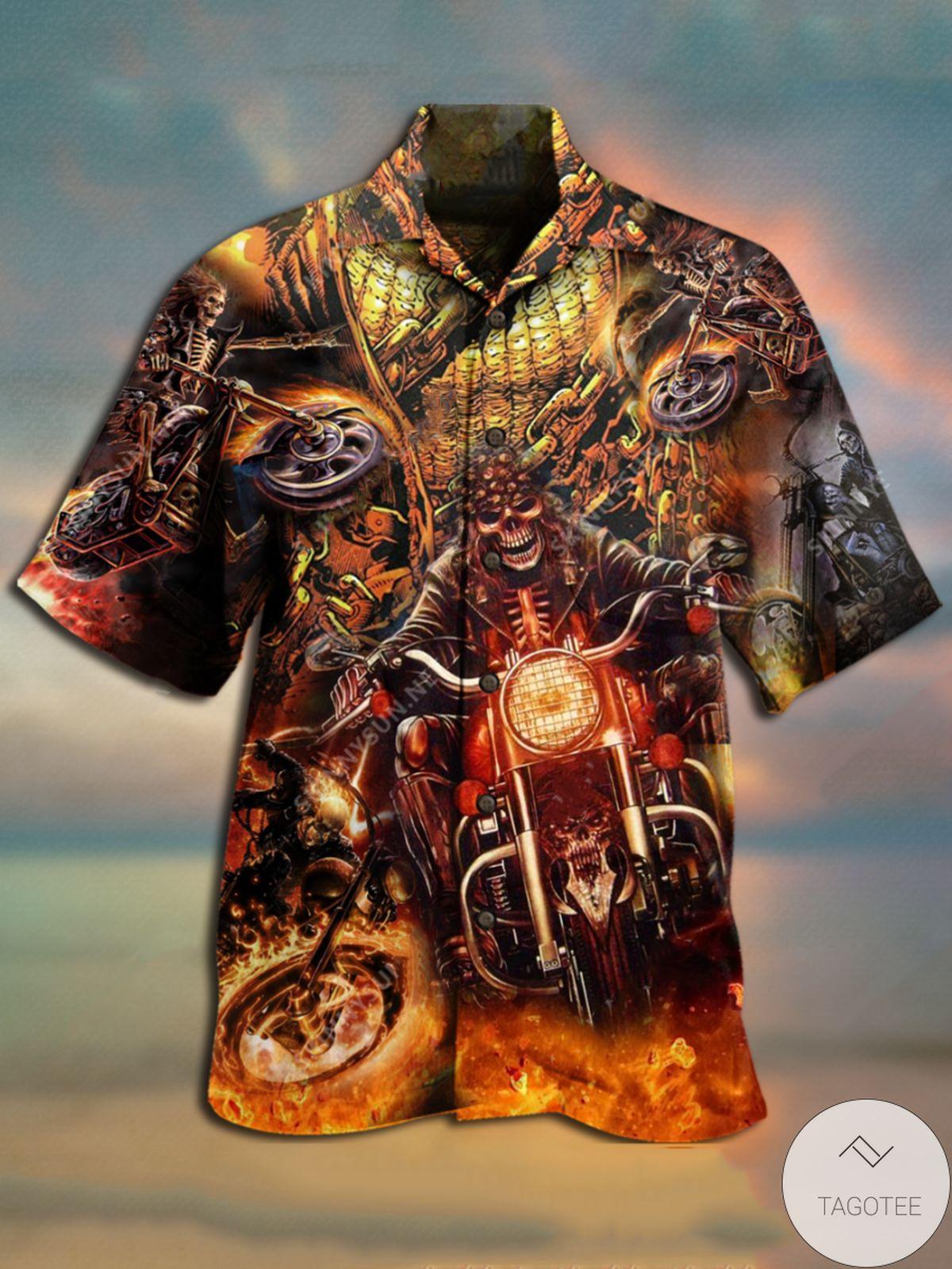 Ships From USA Ghost Rider Unisex Hawaiian Shirt