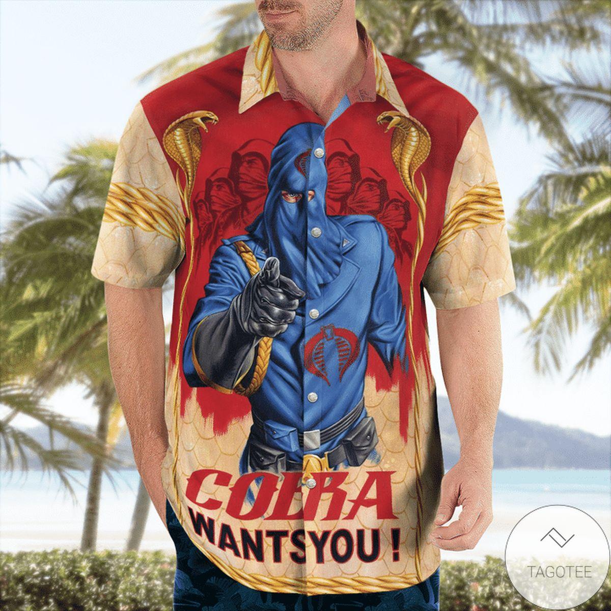 Best Gift Gi Joe Cobra Want You Hawaiian Shirt
