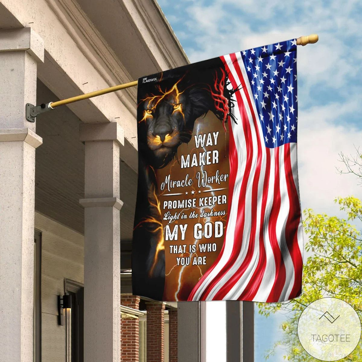 Adult God Jesus Christian Way Maker And Miracle Worker Flag