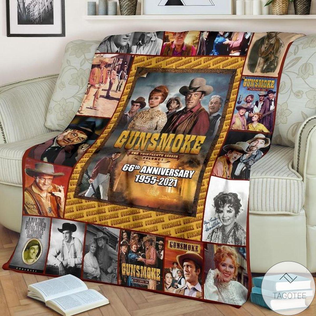 Discount Gunsmoke 66th Anniversary 1955-2021 Blanket