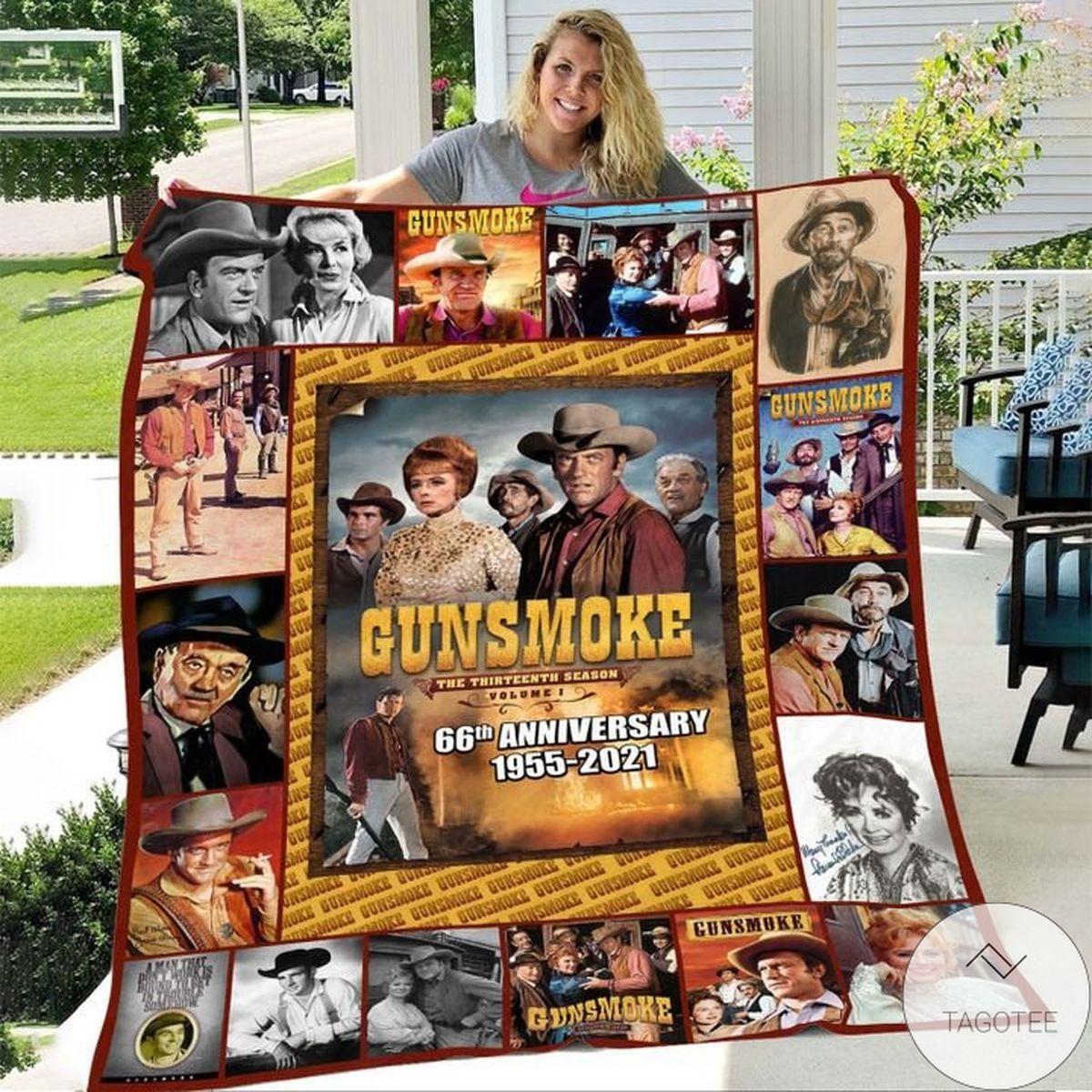 Unique Gunsmoke 66th Anniversary 1955-2021 Blanket