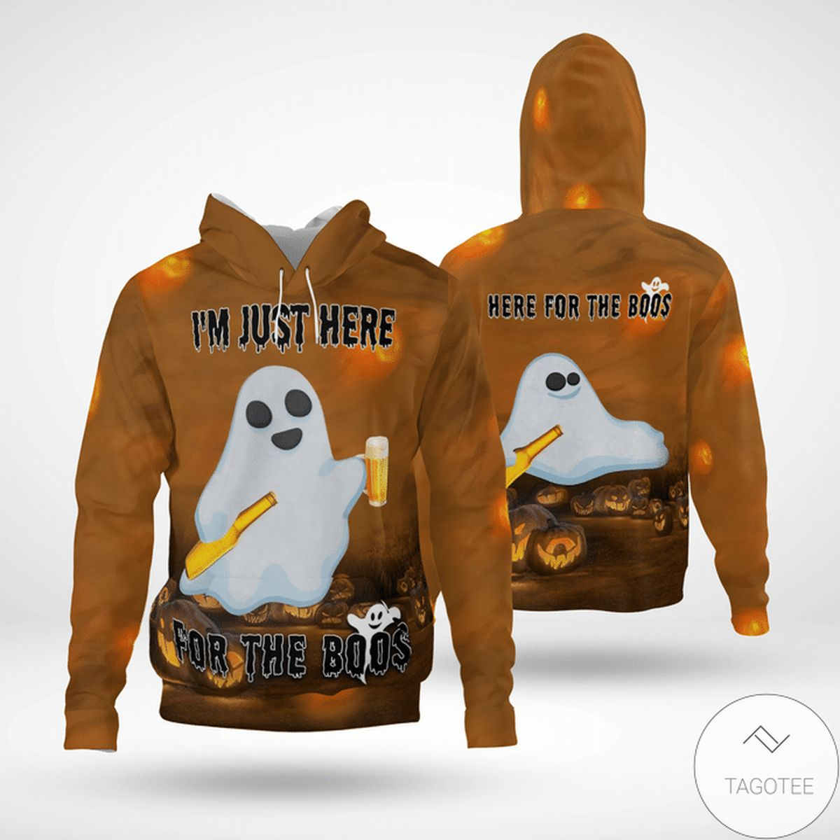 Rating Halloween Boo Ghost I'm Just Here For The Boos 3d Hoodie