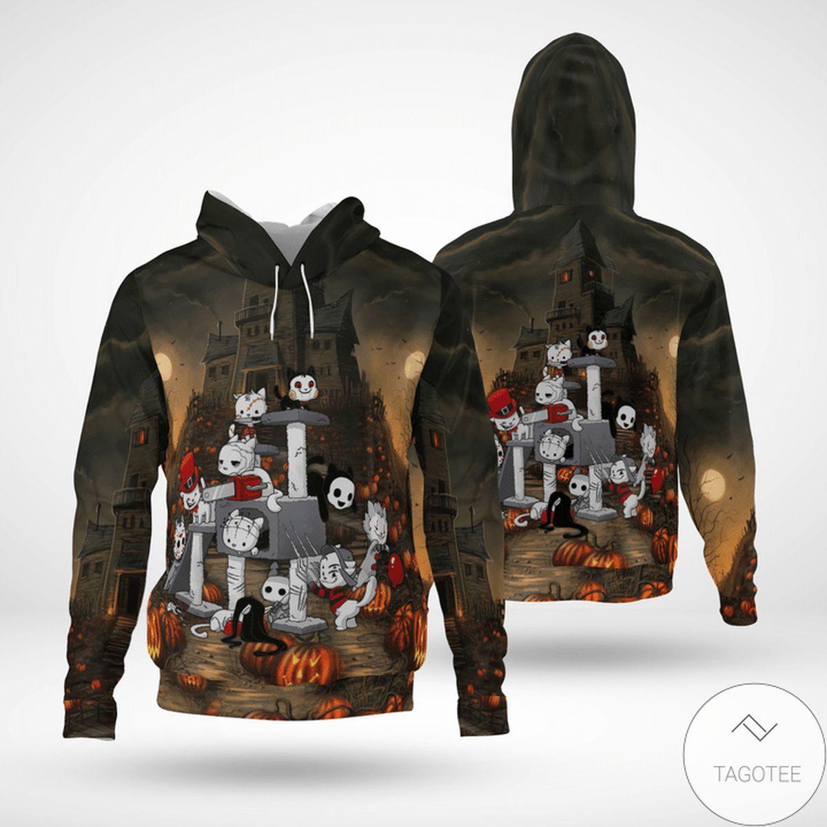 Discount Halloween Cat Costume 3d Hoodie