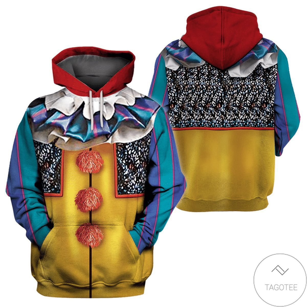 Halloween Clown Classic Pennywise It 1986 Costume 3d Hoodie