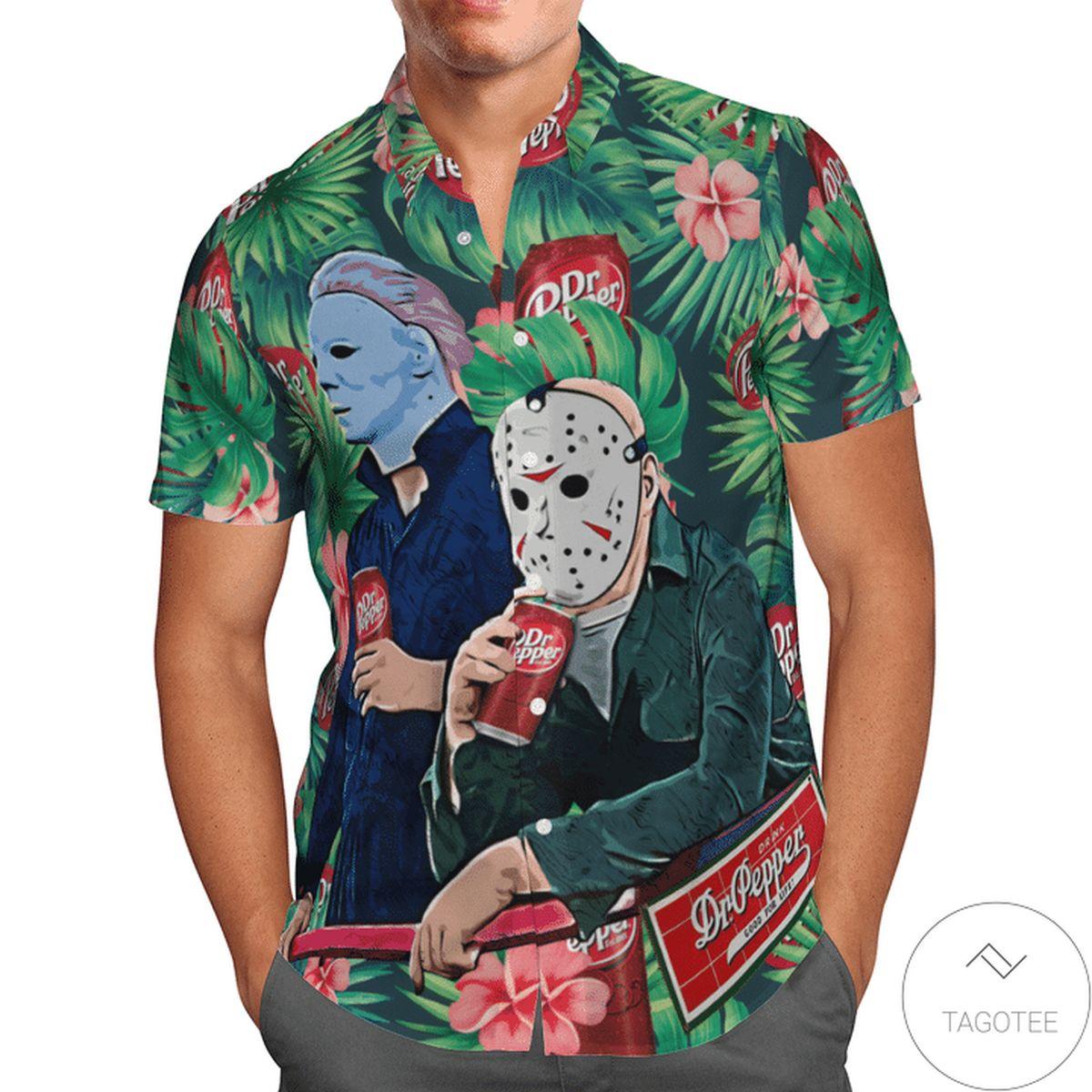 Halloween Dr Pepper 13th Friday Hawaiian Shirt