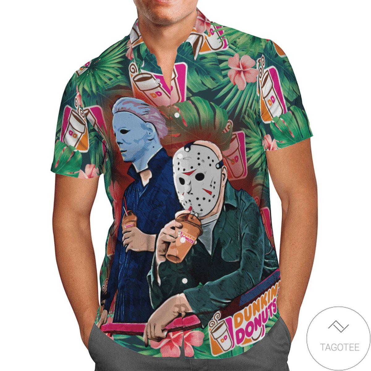 Halloween Dunkins Hawaiian Shirt