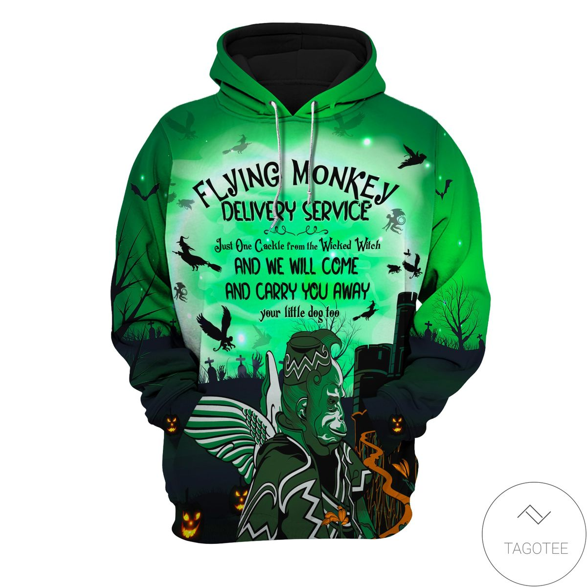Sale Off Halloween Flying Monkey Delivery Service Hoodie