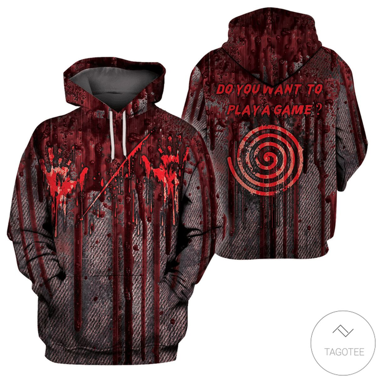 Popular Halloween Horror Costume Do You Want To Play A Game 3d Hoodie
