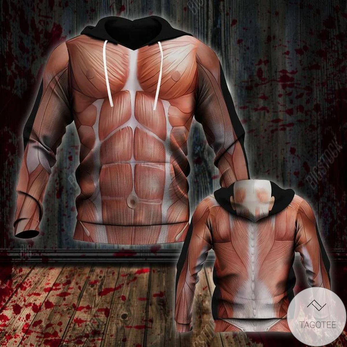 Halloween Human Muscle Costume 3d Hoodie