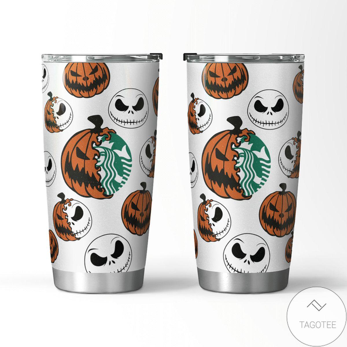 Top Halloween Jack Skellington Starbucks Tumbler
