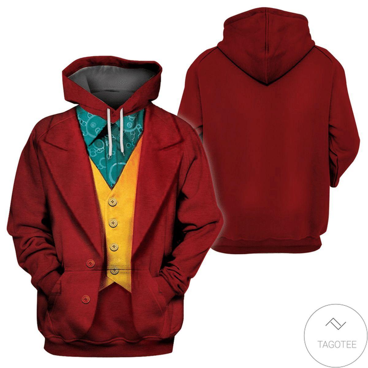 US Shop Halloween Joker Costume 3d Hoodie