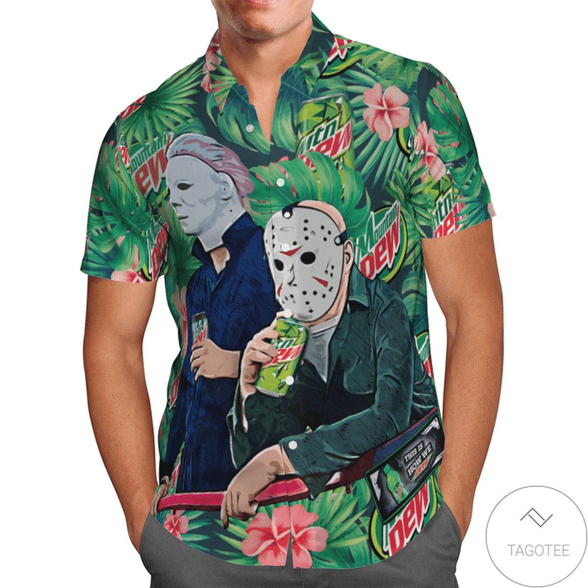 Halloween Mtn Dew Hawaiian Shirt