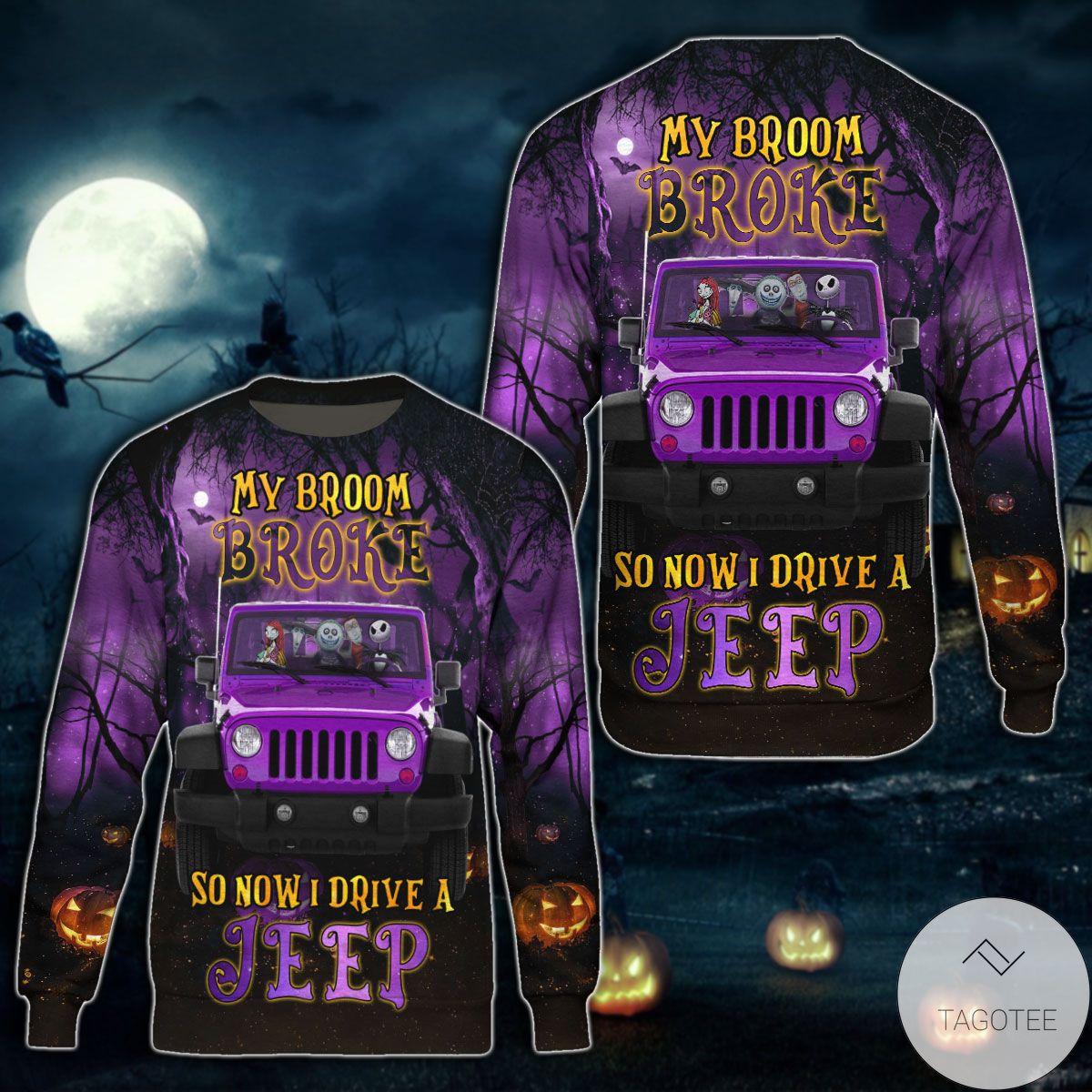 Halloween Now I Drive A Jeep Sweatshirt