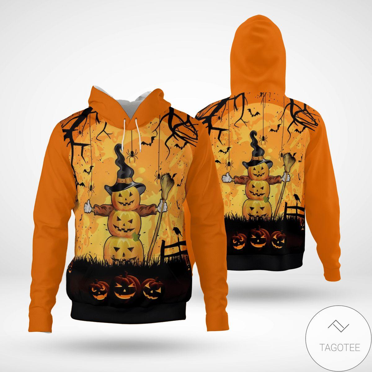 Esty Halloween Pumpkin Man 3d Hoodie