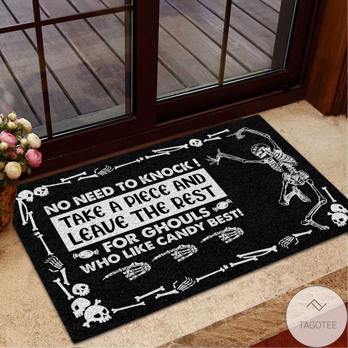 Free Ship Halloween Skull Trick-or-treat Avoid Doormat