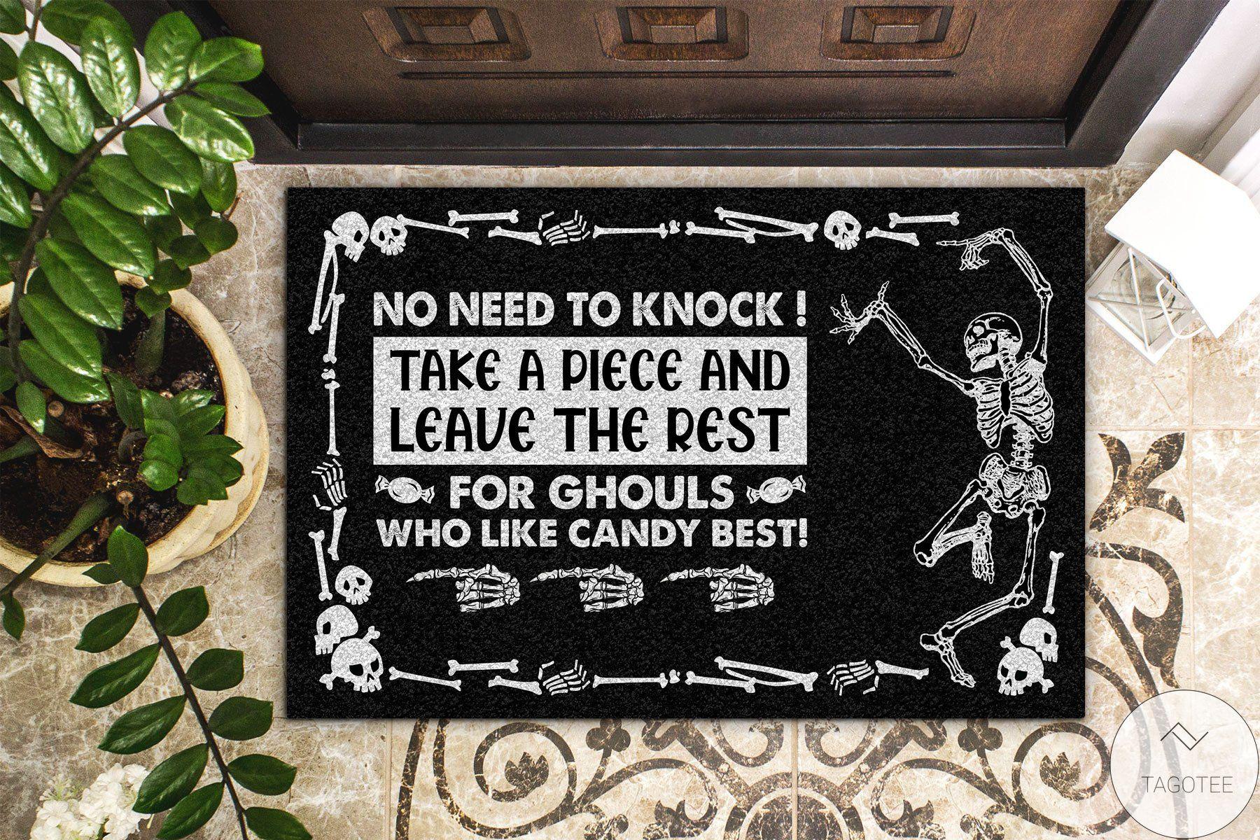 3D Halloween Skull Trick-or-treat Avoid Doormat